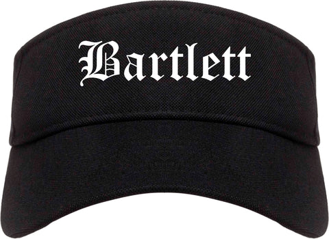 Bartlett Tennessee TN Old English Mens Visor Cap Hat Black