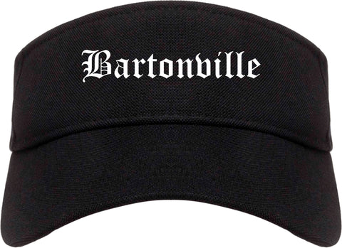 Bartonville Illinois IL Old English Mens Visor Cap Hat Black