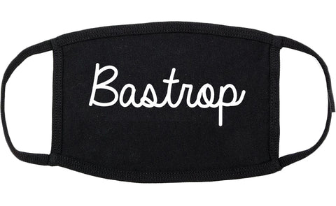 Bastrop Louisiana LA Script Cotton Face Mask Black