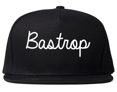 Bastrop Louisiana LA Script Mens Snapback Hat Black