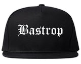 Bastrop Texas TX Old English Mens Snapback Hat Black
