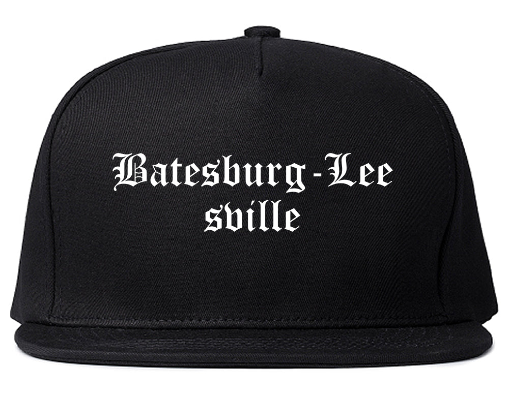Batesburg Leesville South Carolina SC Old English Mens Snapback Hat Black
