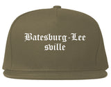 Batesburg Leesville South Carolina SC Old English Mens Snapback Hat Grey