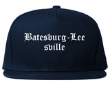 Batesburg Leesville South Carolina SC Old English Mens Snapback Hat Navy Blue