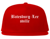 Batesburg Leesville South Carolina SC Old English Mens Snapback Hat Red