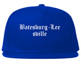 Batesburg Leesville South Carolina SC Old English Mens Snapback Hat Royal Blue