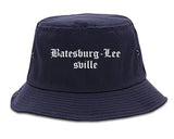 Batesburg Leesville South Carolina SC Old English Mens Bucket Hat Navy Blue