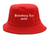Batesburg Leesville South Carolina SC Old English Mens Bucket Hat Red