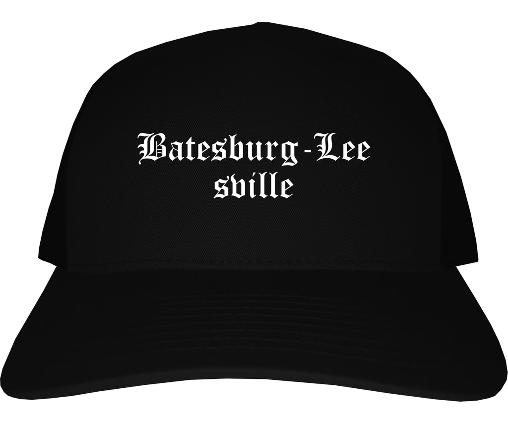 Batesburg Leesville South Carolina SC Old English Mens Trucker Hat Cap Black