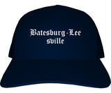 Batesburg Leesville South Carolina SC Old English Mens Trucker Hat Cap Navy Blue