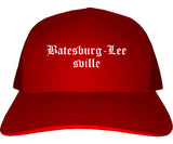 Batesburg Leesville South Carolina SC Old English Mens Trucker Hat Cap Red