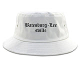 Batesburg Leesville South Carolina SC Old English Mens Bucket Hat White