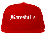 Batesville Arkansas AR Old English Mens Snapback Hat Red