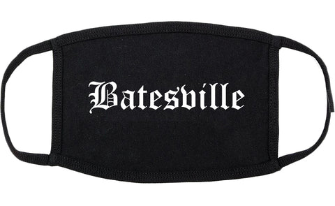 Batesville Indiana IN Old English Cotton Face Mask Black
