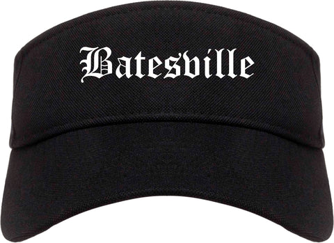 Batesville Indiana IN Old English Mens Visor Cap Hat Black