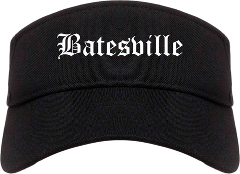 Batesville Mississippi MS Old English Mens Visor Cap Hat Black