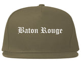 Baton Rouge Louisiana LA Old English Mens Snapback Hat Grey