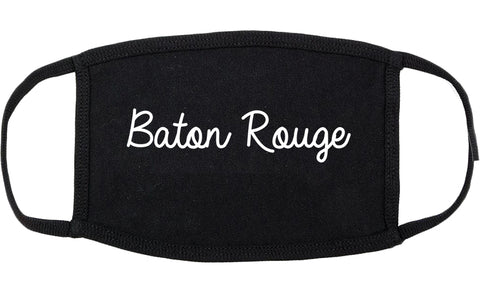 Baton Rouge Louisiana LA Script Cotton Face Mask Black
