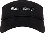 Baton Rouge Louisiana LA Old English Mens Visor Cap Hat Black