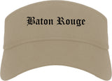 Baton Rouge Louisiana LA Old English Mens Visor Cap Hat Khaki