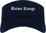Baton Rouge Louisiana LA Old English Mens Visor Cap Hat Navy Blue