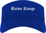 Baton Rouge Louisiana LA Old English Mens Visor Cap Hat Royal Blue
