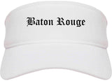 Baton Rouge Louisiana LA Old English Mens Visor Cap Hat White