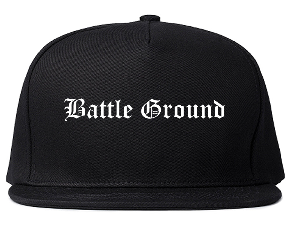 Battle Ground Washington WA Old English Mens Snapback Hat Black