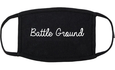 Battle Ground Washington WA Script Cotton Face Mask Black