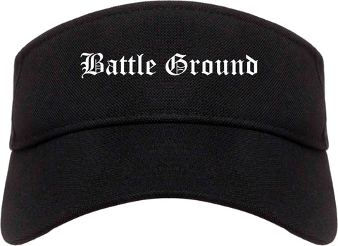 Battle Ground Washington WA Old English Mens Visor Cap Hat Black