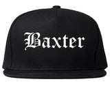 Baxter Minnesota MN Old English Mens Snapback Hat Black