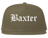 Baxter Minnesota MN Old English Mens Snapback Hat Grey