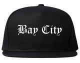 Bay City Texas TX Old English Mens Snapback Hat Black
