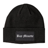 Bay Minette Alabama AL Old English Mens Knit Beanie Hat Cap Black