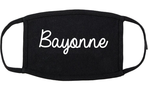 Bayonne New Jersey NJ Script Cotton Face Mask Black