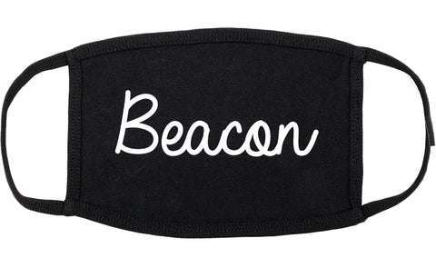 Beacon New York NY Script Cotton Face Mask Black