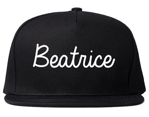 Beatrice Nebraska NE Script Mens Snapback Hat Black