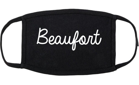 Beaufort South Carolina SC Script Cotton Face Mask Black