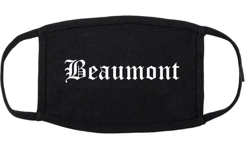 Beaumont Texas TX Old English Cotton Face Mask Black