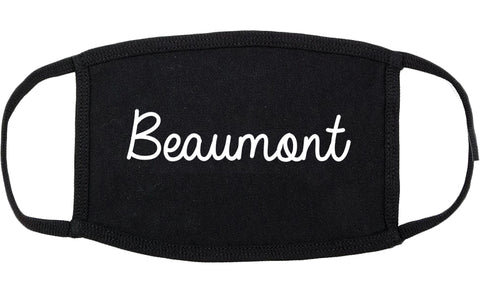 Beaumont Texas TX Script Cotton Face Mask Black