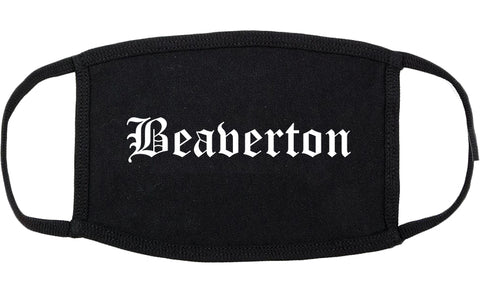 Beaverton Oregon OR Old English Cotton Face Mask Black