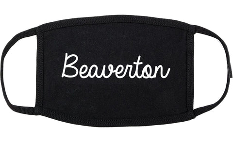 Beaverton Oregon OR Script Cotton Face Mask Black