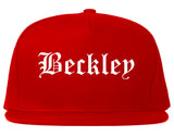 Beckley West Virginia WV Old English Mens Snapback Hat Red