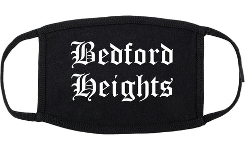 Bedford Heights Ohio OH Old English Cotton Face Mask Black