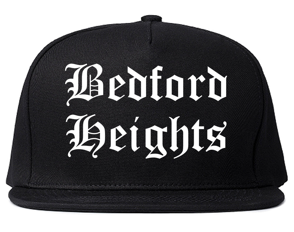 Bedford Heights Ohio OH Old English Mens Snapback Hat Black
