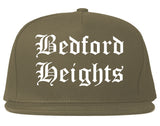 Bedford Heights Ohio OH Old English Mens Snapback Hat Grey