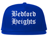 Bedford Heights Ohio OH Old English Mens Snapback Hat Royal Blue