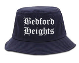 Bedford Heights Ohio OH Old English Mens Bucket Hat Navy Blue