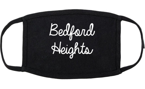 Bedford Heights Ohio OH Script Cotton Face Mask Black