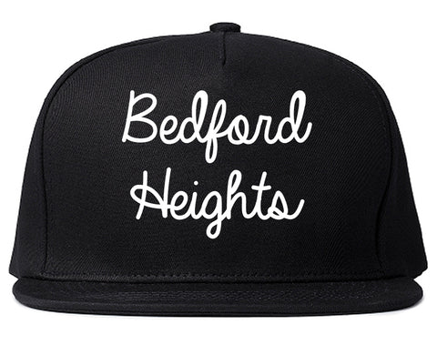 Bedford Heights Ohio OH Script Mens Snapback Hat Black